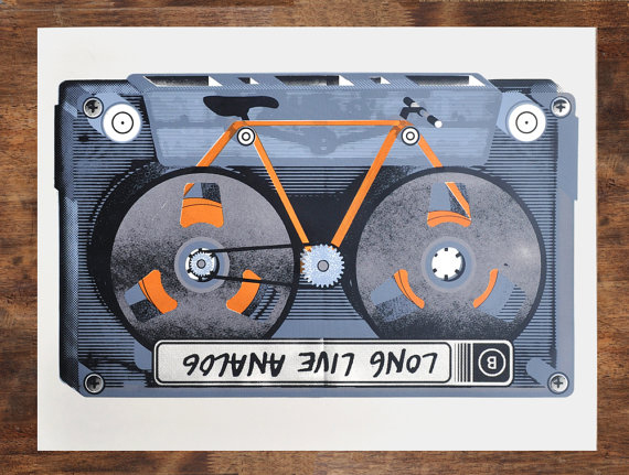 ManVSink Cassette Cycle Print