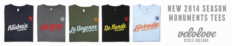 Vélove.cc Monuments T-Shirt Range 2014