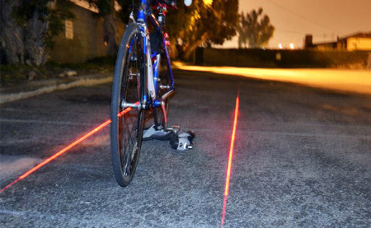 Xfire: On-Demand Laser Bike Lane